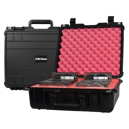 SiForce L12 Hard Drive Transport Case - Fits 12 x 3.5 inch Hard Drives