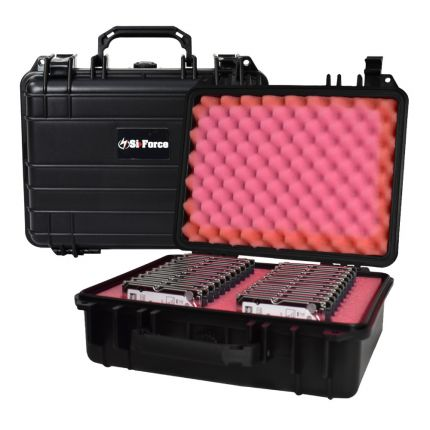 SiForce S20 Hard Drive Transport Case - Fits 20 x 2.5 inch Hard Drives