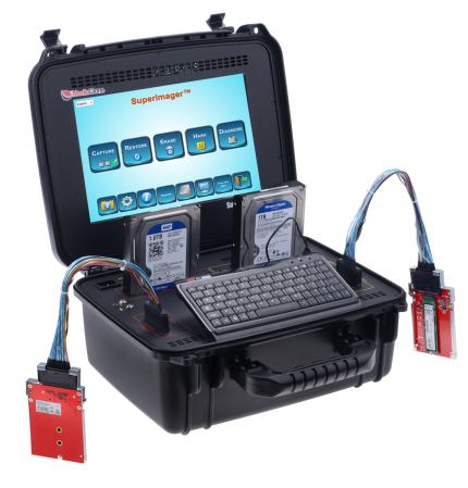 MediaClone Superimager Plus 12 Inch NVMe + SATA Portable Rugged Forensic Imaging Unit with Thunderbolt 3.0 Port