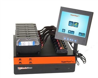 MediaClone SuperWiper Desktop Gen-3 Standalone Driver Eraser with 8 SAS/SATA